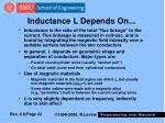 inductance l depends on