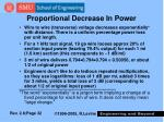 proportional decrease in power