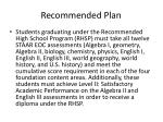 recommended plan