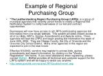example of regional purchasing group