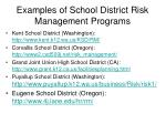 examples of school district risk management programs