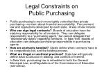 legal constraints on public purchasing