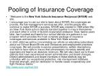 pooling of insurance coverage