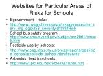 websites for particular areas of risks for schools49