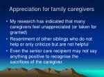 appreciation for family caregivers
