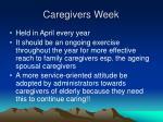 caregivers week