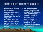some policy recommendations