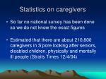 statistics on caregivers
