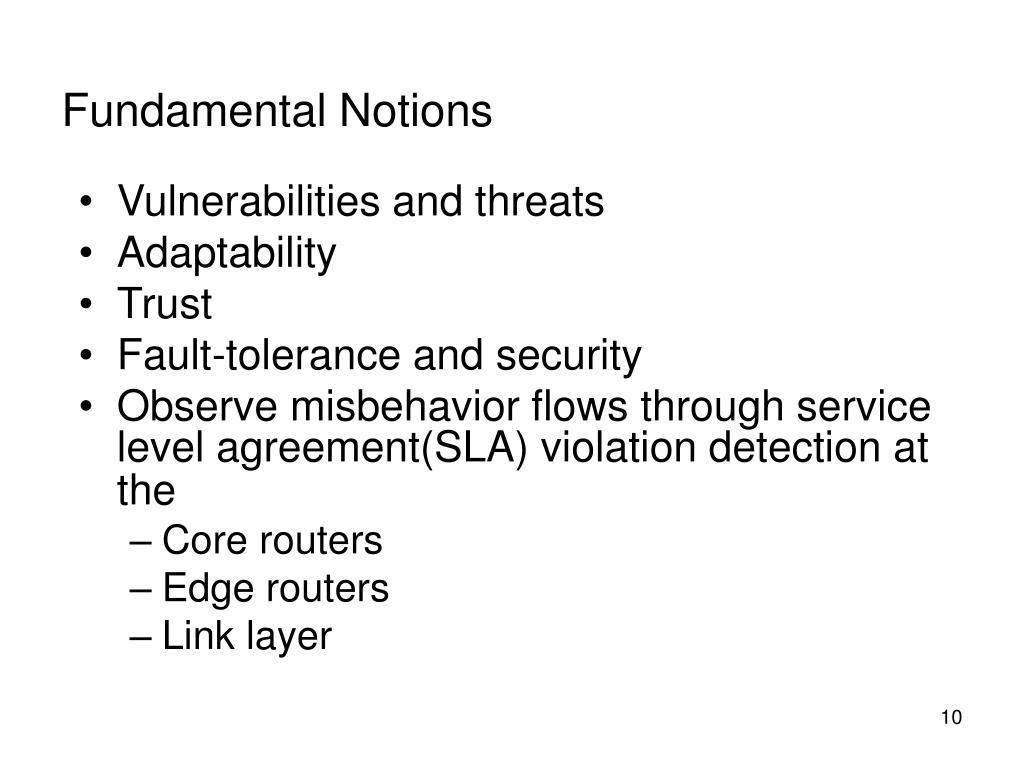 Fundamental Notions