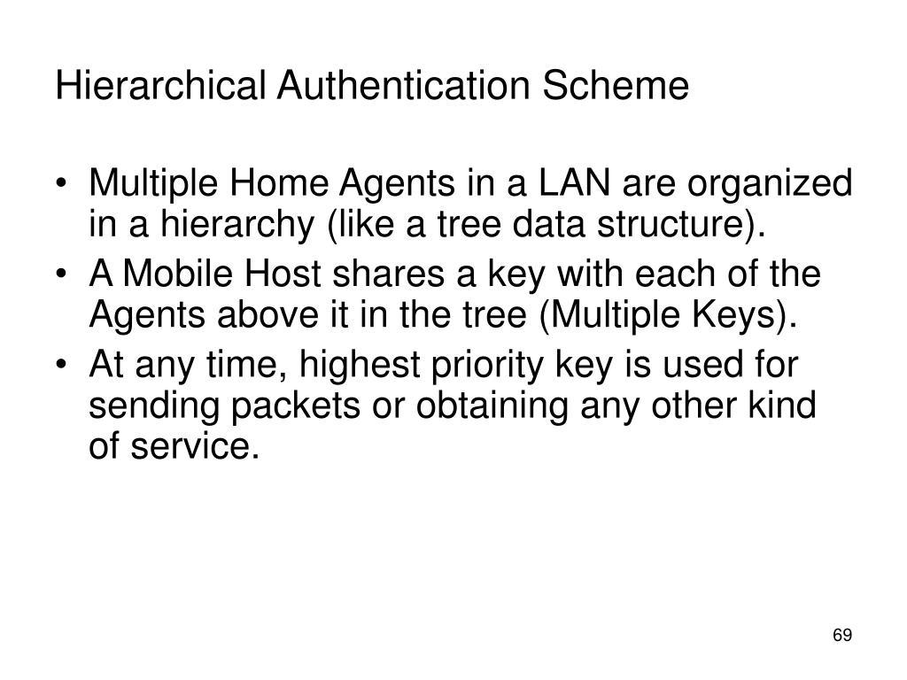 Hierarchical Authentication Scheme