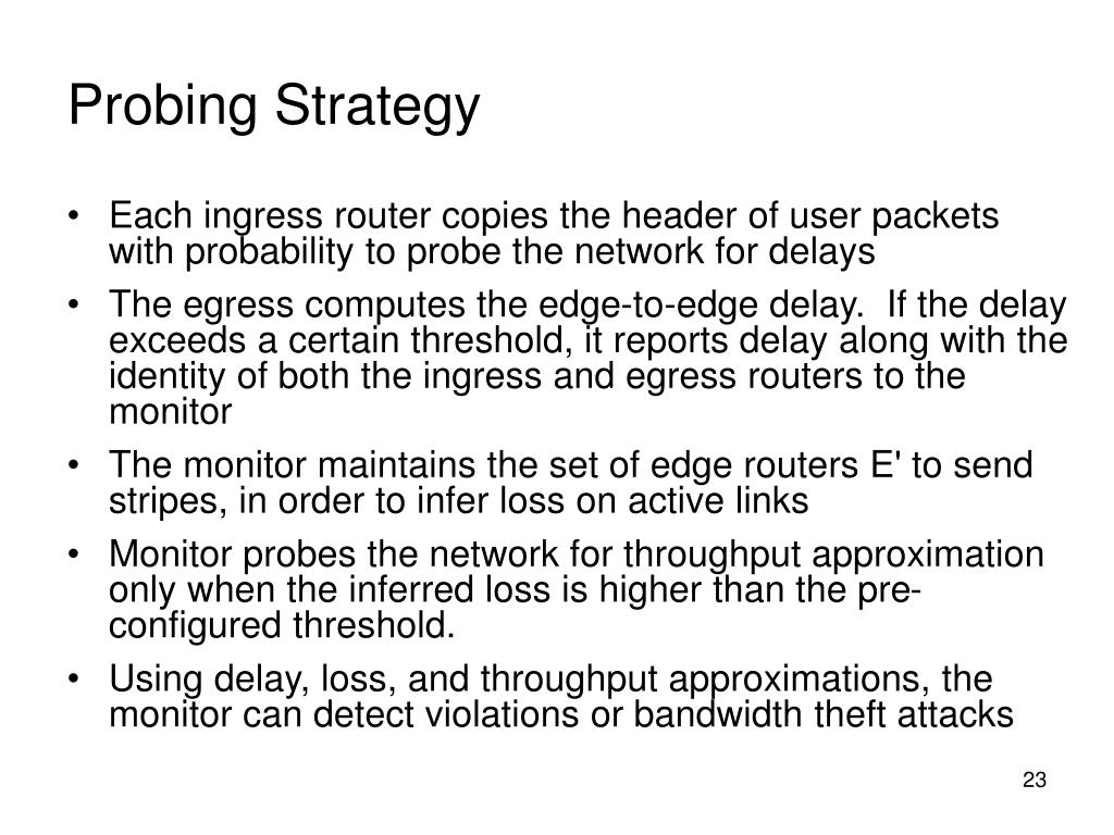 Probing Strategy