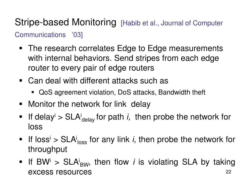 Stripe-based Monitoring