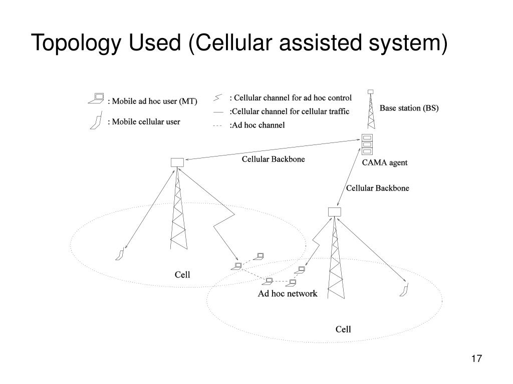 Topology Used (Cellular assisted system)