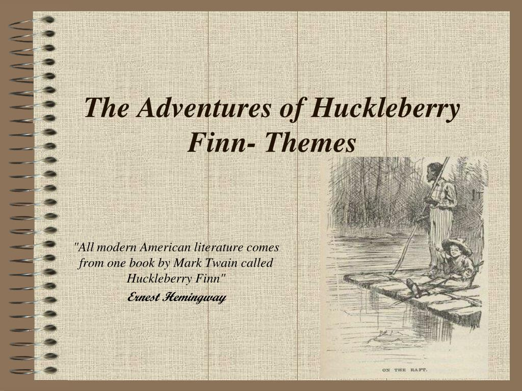 morality theme in huckleberry finn