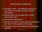 experimenter expectancy
