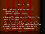 external validity33