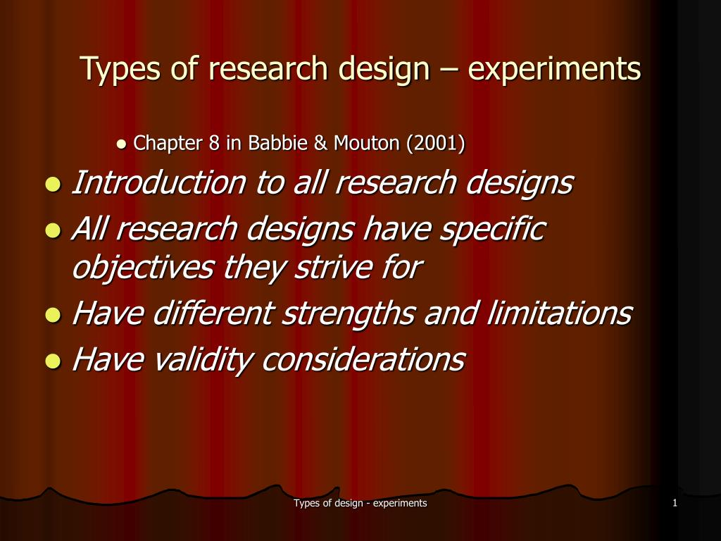 types of research design experiments l.