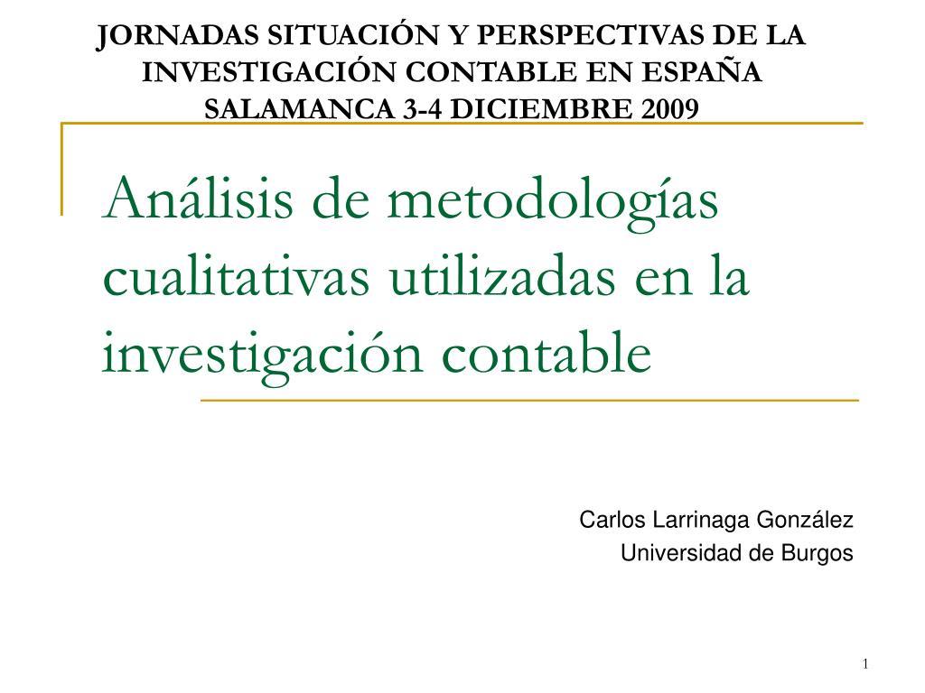 an lisis de metodolog as cualitativas utilizadas en la investigaci n contable l.