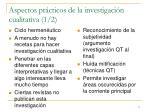 aspectos pr cticos de la investigaci n cualitativa 1 2