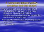 6 increasing external validity simulation and field studies