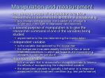 manipulation and measurement