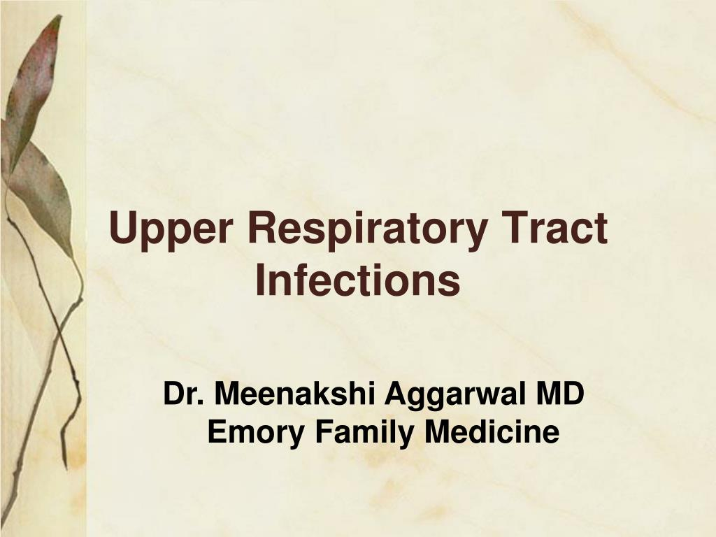 upper respiratory tract infections l.