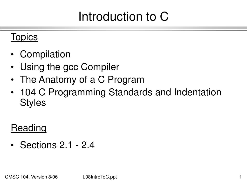 introduction to c l.