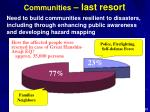 communities last resort