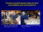 tsunami countermeasures taken by local municipalities and communities 3