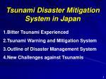 tsunami disaster mitigation system in japan