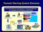 tsunami warning system elements