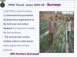 pfdc thrust areas 2005 06 surveys