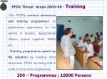 pfdc thrust areas 2005 06 training