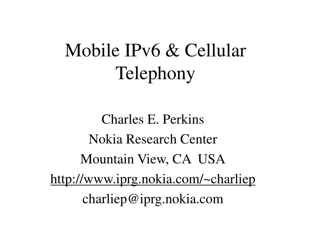 mobile ipv6 cellular telephony l.