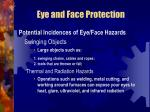eye and face protection18