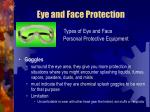 eye and face protection26