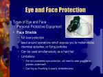 eye and face protection27