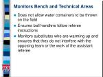 monitors bench and technical areas13