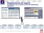 requerimientos de negocio complejidad caos y fracaso a la hora de implementar soluciones
