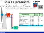 hydraulic transmission 5 mw