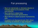 fair processing