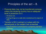 principles of the act 8