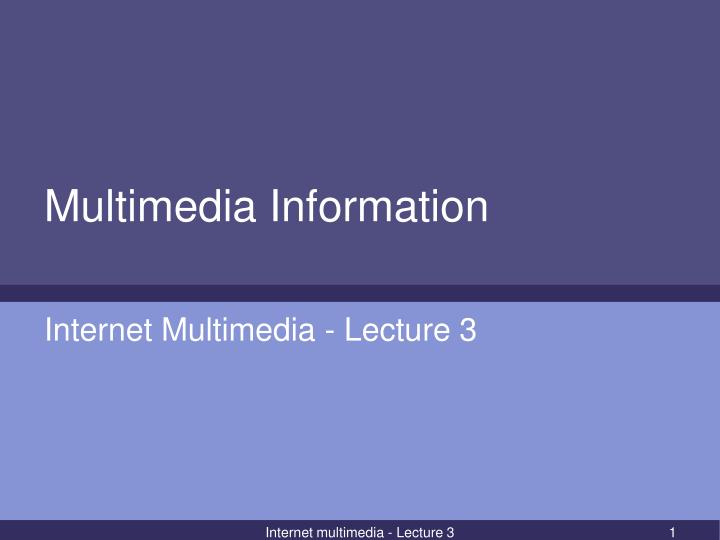 multimedia information n.