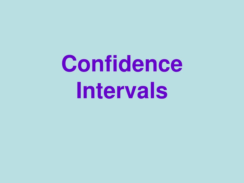 confidence intervals l.