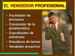 el vendedor profesional