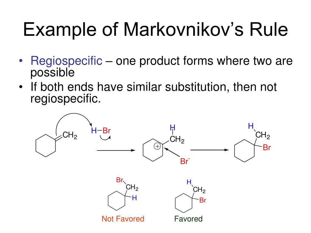 Example of Markovnikov's Rule