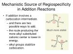 mechanistic source of regiospecificity in addition reactions