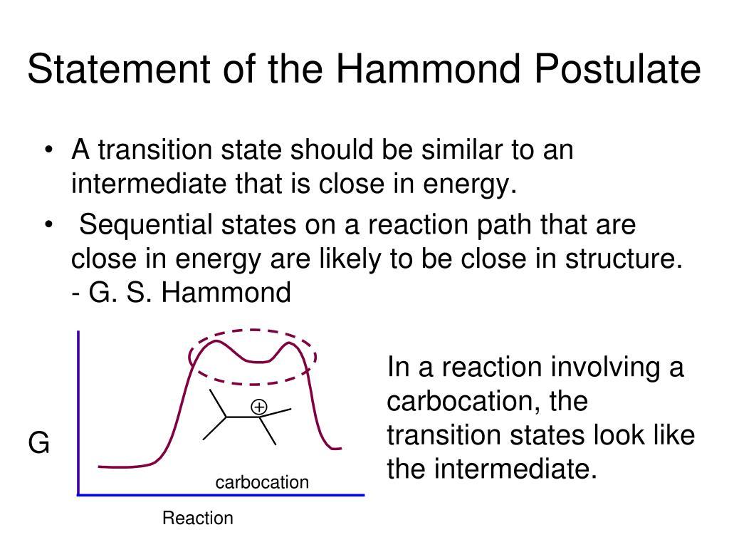Statement of the Hammond Postulate