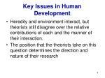 key issues in human development4