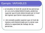 ejemplo variables